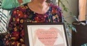 """SSA Volunteer receives """"Above and Beyond Recognition in the time of COVID"""" award!"""